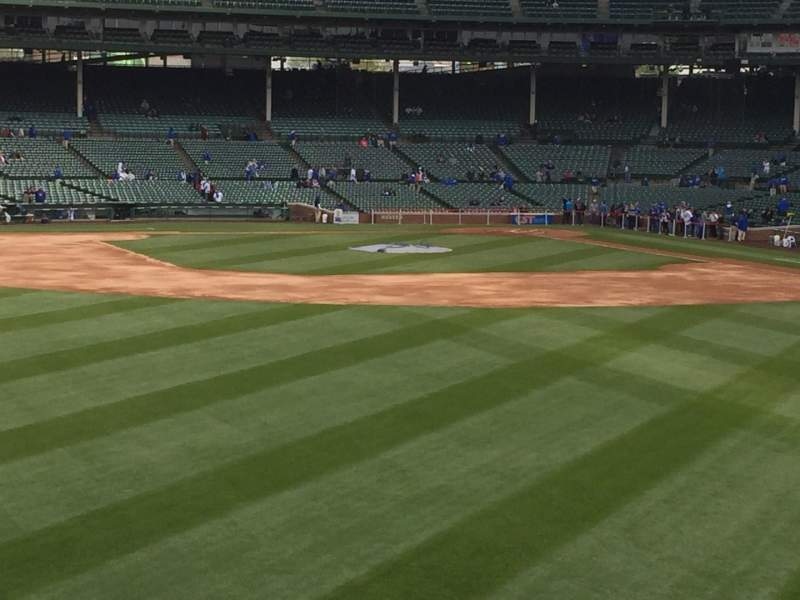 Seating view for Wrigley Field Section Blchr Row 10 Seat 8