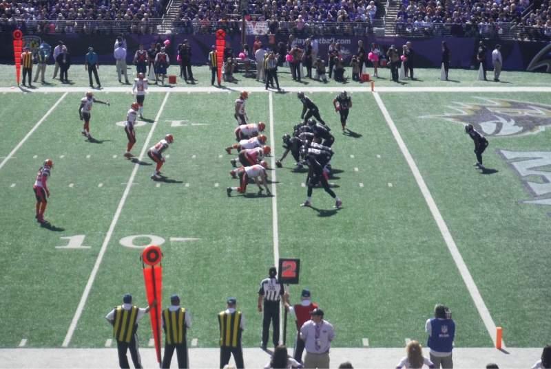 M&T Bank Stadium, section: 250, seat: 18