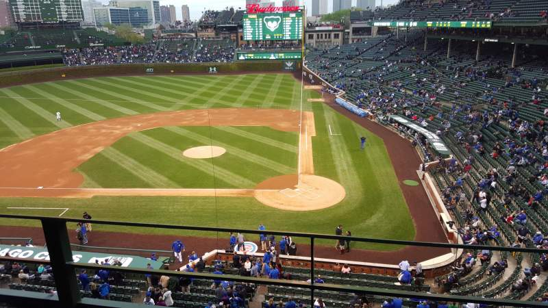 Seating view for Wrigley Field Section 417 Row 2 Seat 105