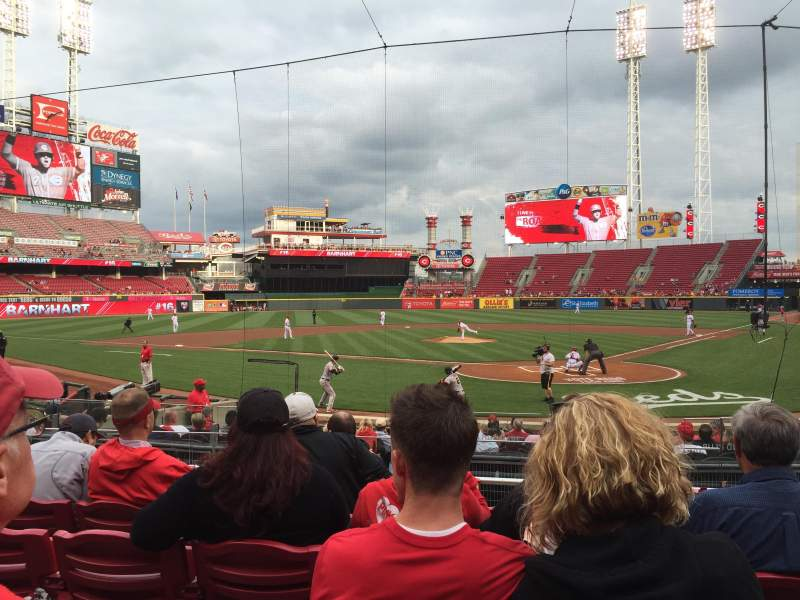 Seating view for Great American Ball Park Section 121 Row R Seat 1