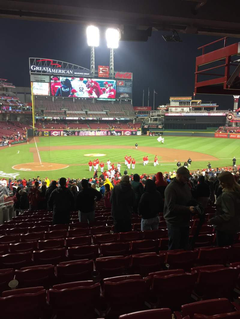 Seating view for Great American Ball Park Section 127 Row NN  Seat 14