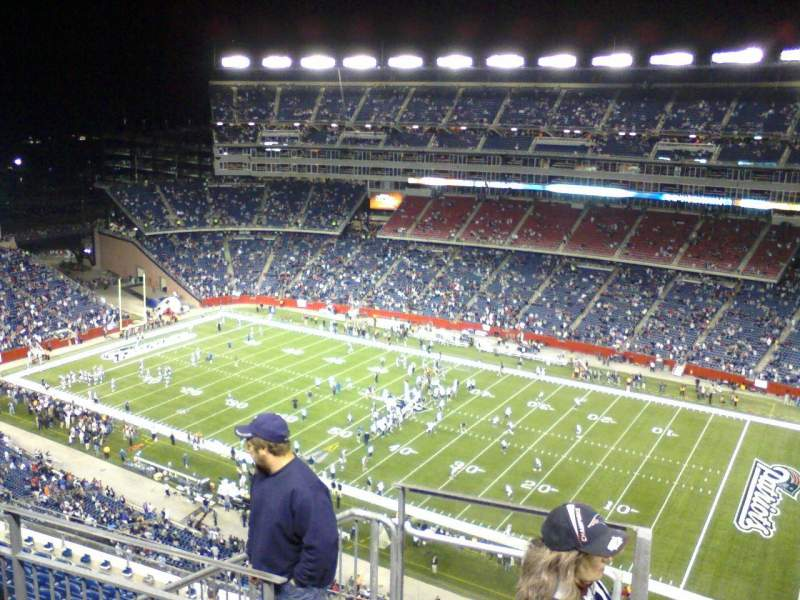 Seating view for Gillette Stadium Section 327 Row 11 Seat 23