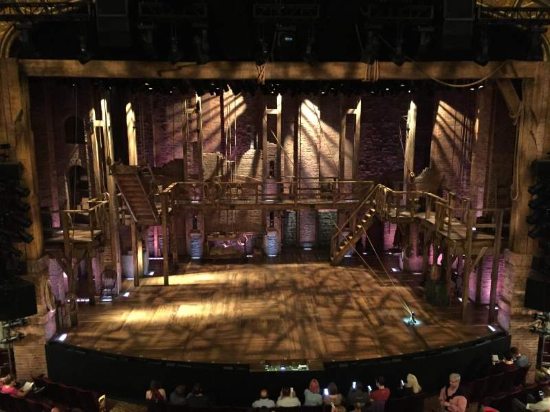 Seating view for Richard Rodgers Theatre Section Front Mezz Row A Seat 110