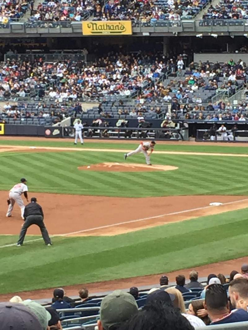 Seating view for Yankee Stadium Section 129 Row 24 Seat 10