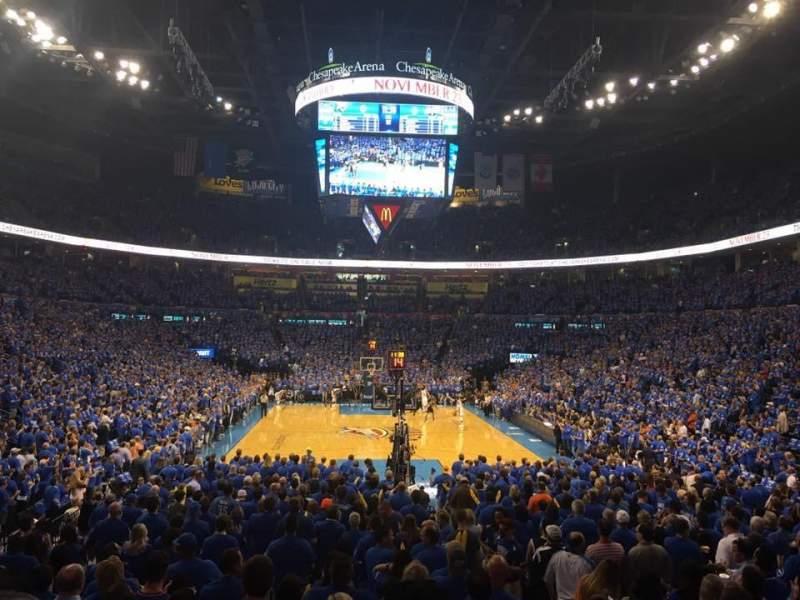 Chesapeake Energy Arena, section: 101, row: N, seat: 3