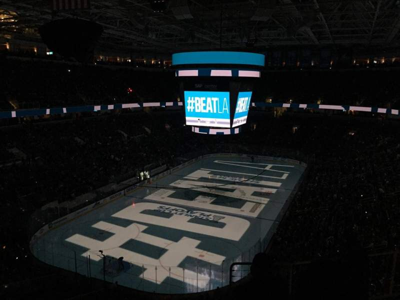 Seating view for SAP Center Section 220 Row 8 Seat 12