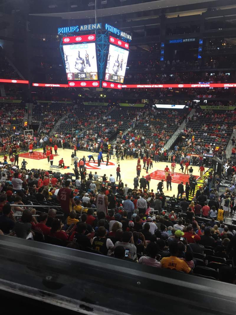 Seating view for Philips Arena Section 113 Row YC Seat 9