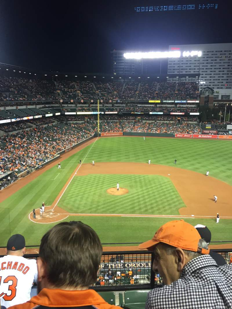 Seating view for Oriole Park at Camden Yards Section 324 Row 4 Seat 17