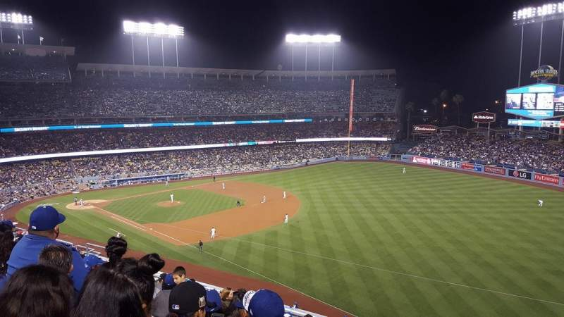 Seating view for Dodger Stadium Section 40RS Row J Seat 17