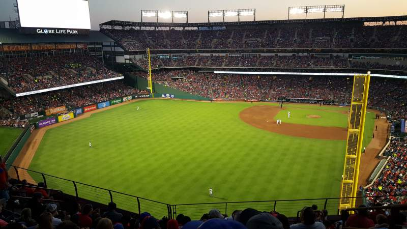 Seating view for Globe Life Park in Arlington Section 306 Row 10 Seat 14