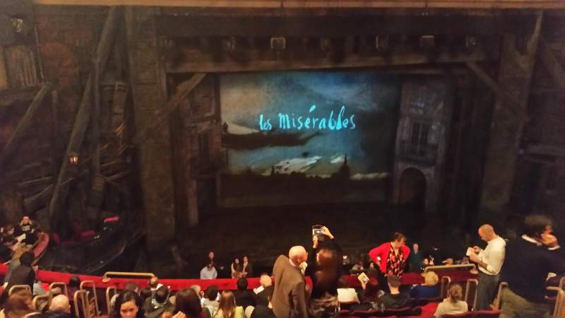Seating view for Imperial Theatre Section Rear Mezz Row C Seat 1