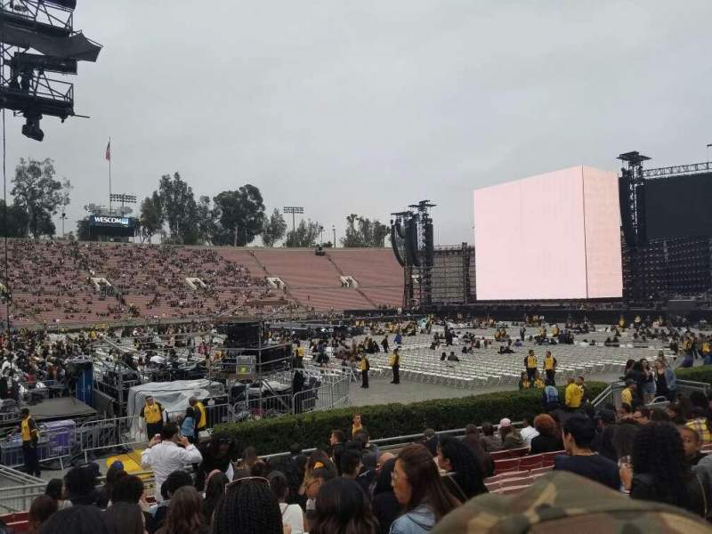 Seating view for Rose Bowl Section 16-H Row 11 Seat 108
