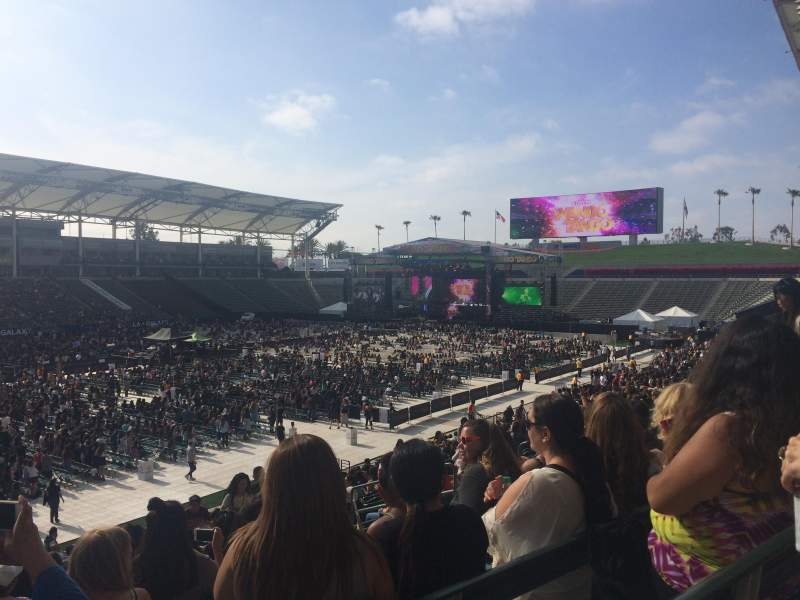 Seating view for StubHub Center Section 137 Row Z Seat 11