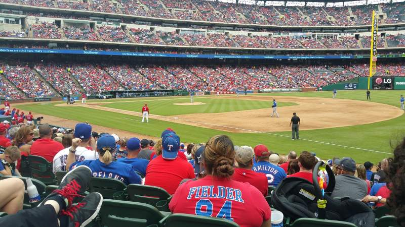 Seating view for Globe Life Park in Arlington Section 37 Row 14 Seat 7