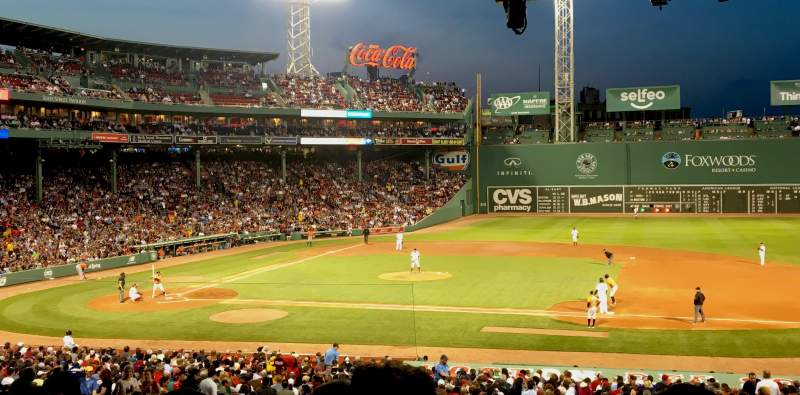Seating view for Fenway Park Section Grandstand 15 Row 11 Seat 8
