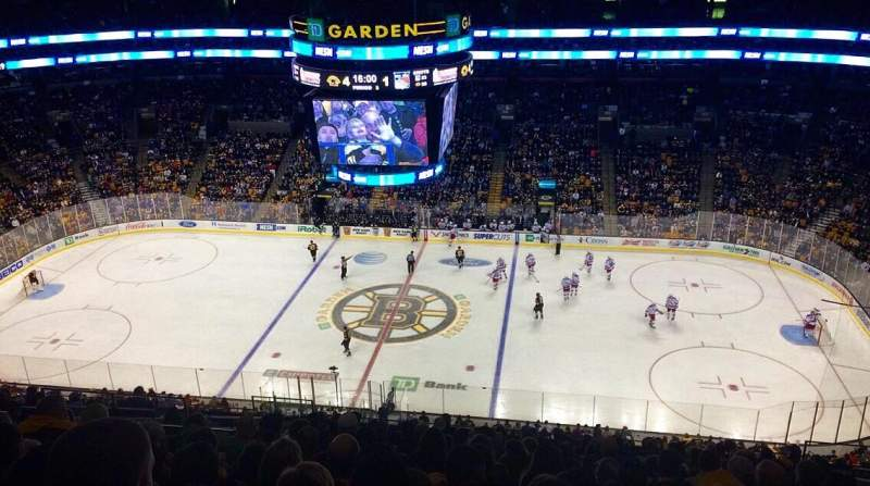 Seating view for TD Garden Section Bal 315 Row 15 Seat 16