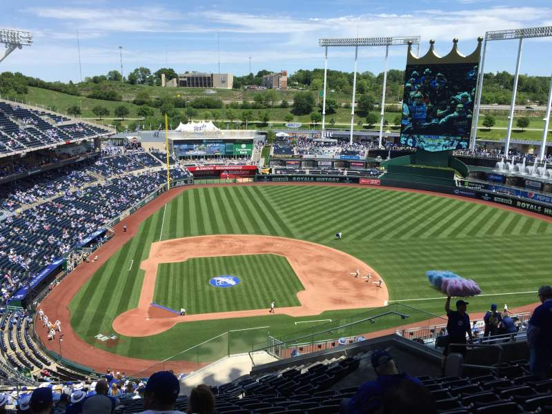 Seating view for Kauffman Stadium Section 427 Row LL Seat 16