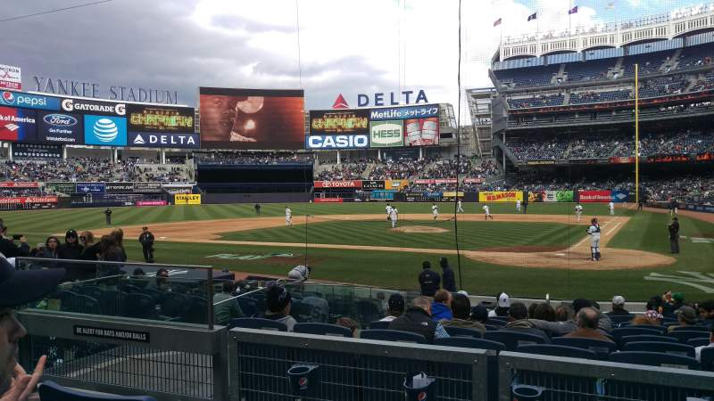 Seating view for Yankee Stadium Section 121b Row 3 Seat 8