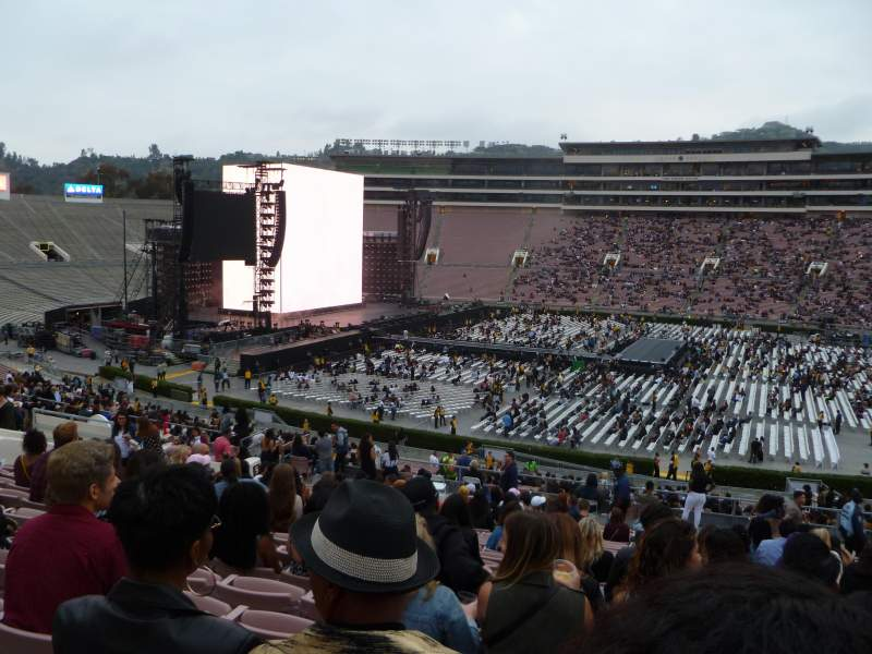 Seating view for Rose Bowl Section 6-L Row 51 Seat 18