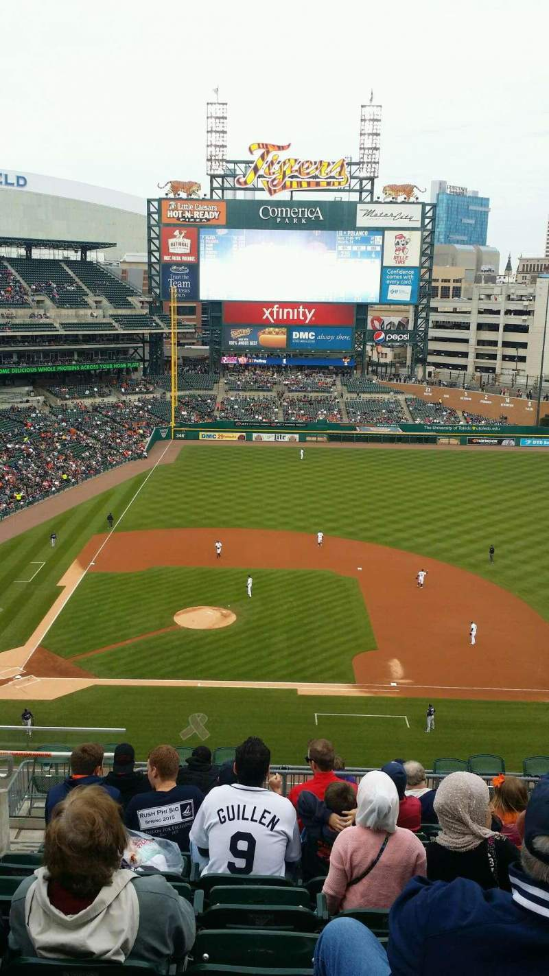 Seating view for Comerica Park Section 323 Row 11 Seat 21