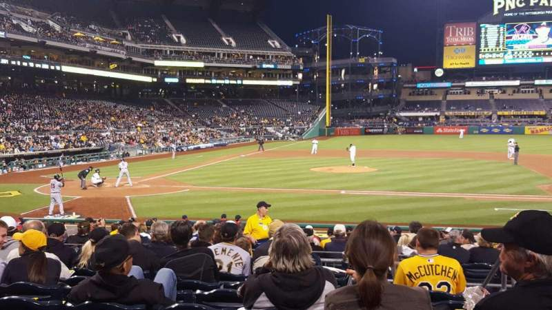 Seating view for PNC Park Section 112 Row J Seat 1