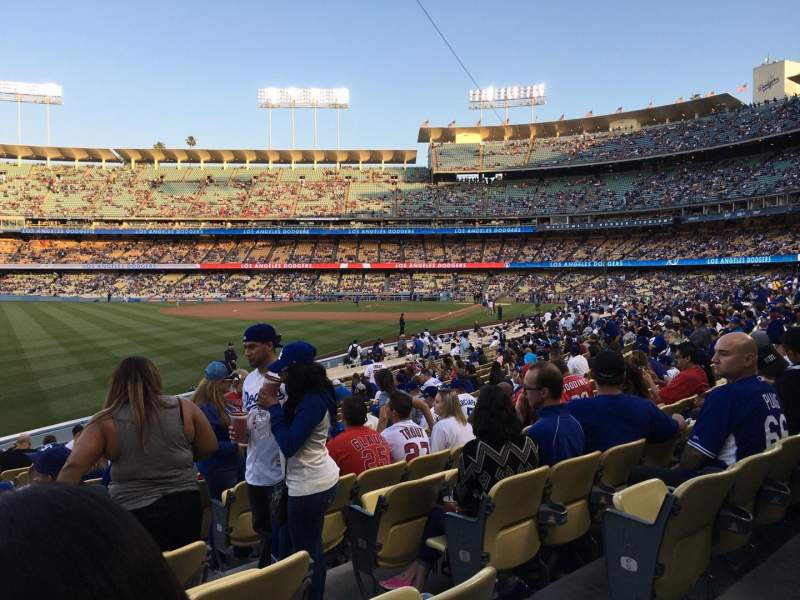 Seating view for Dodger Stadium Section 49FD Row R Seat 3