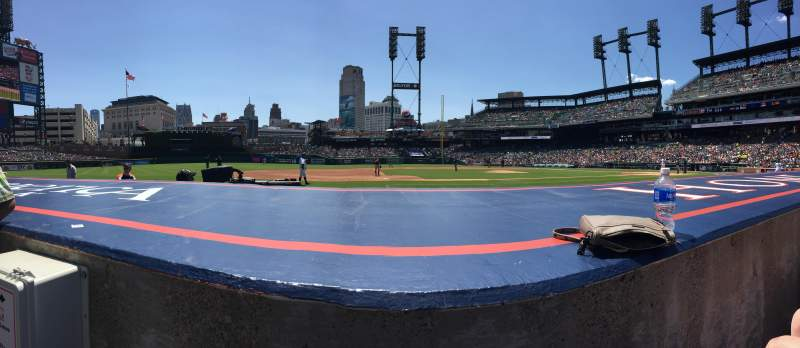 Seating view for Comerica Park Section 134 Row 7 Seat 14
