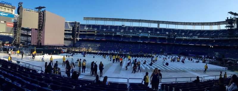 Seating view for Qualcomm Stadium Section F6 Row 12 Seat 14