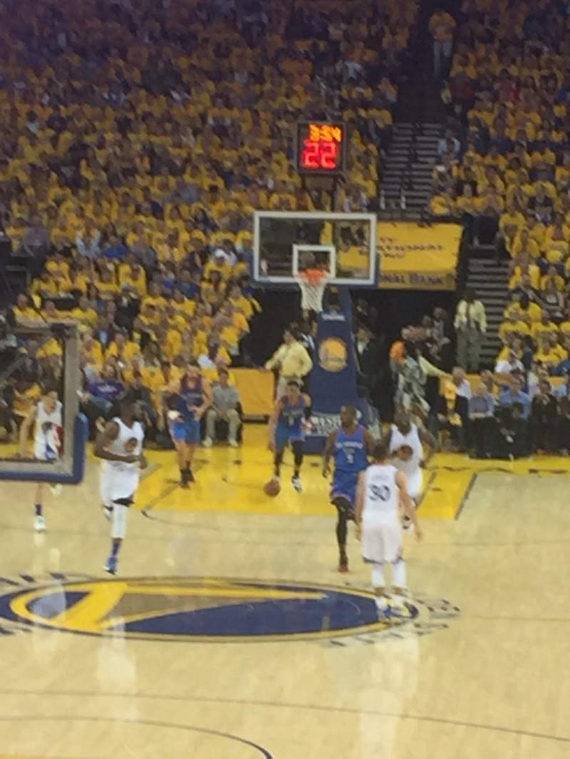 Seating view for Oracle Arena Section 107 Row 12 Seat 11