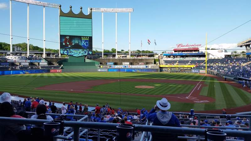 Seating view for Kauffman Stadium Section 225 Row BB Seat 3
