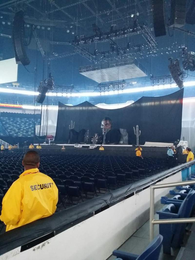 Seating view for Smoothie King Center Section 101 Row 5 Seat 6