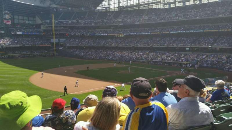 Seating view for Miller Park Section 228 Row 8 Seat 8