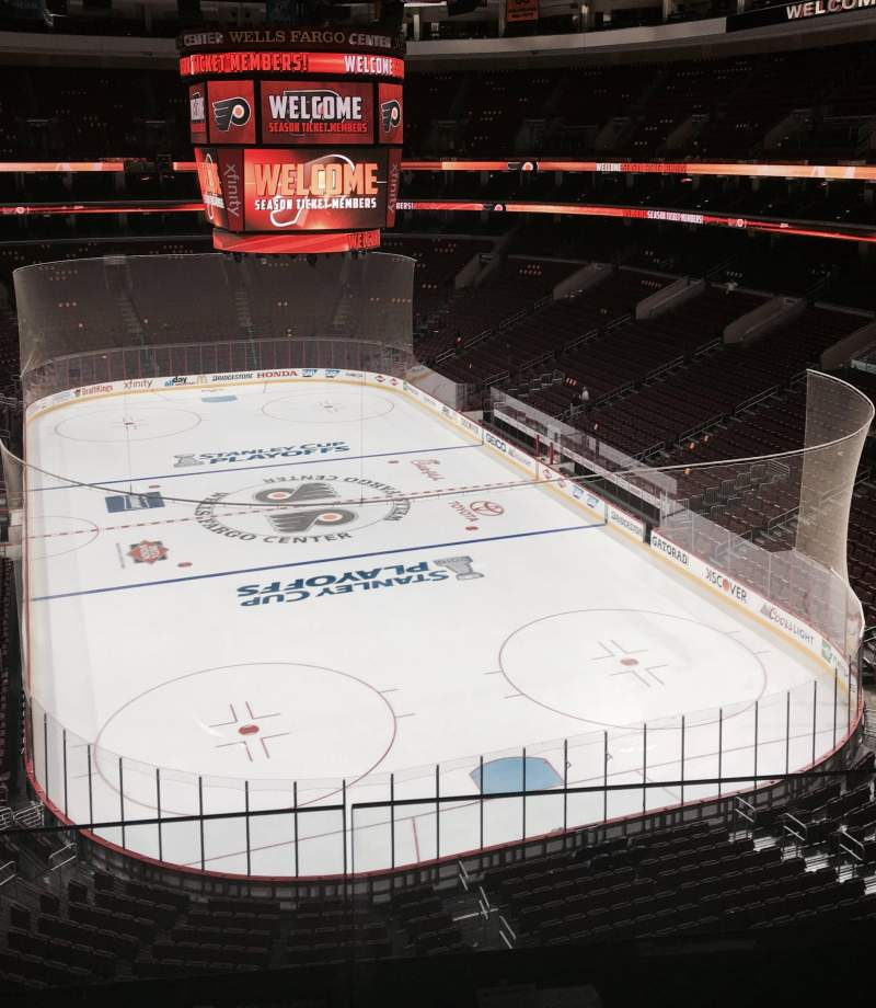 Seating view for Wells Fargo Center Section 218 Row 2