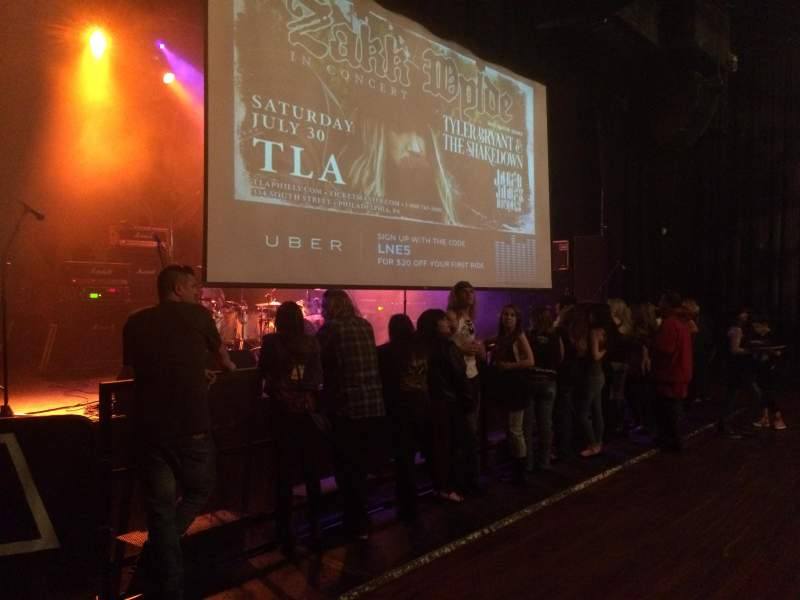 Seating view for The TLA Section Lower bar