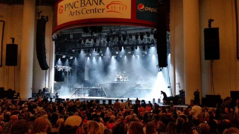 Seating view for PNC Bank Arts Center Section 102 Row 3 Seat 5