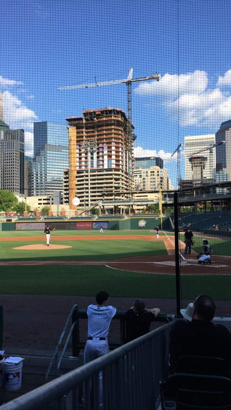 Seating view for BB&T Ballpark (Charlotte) Section 113 Row K Seat 10