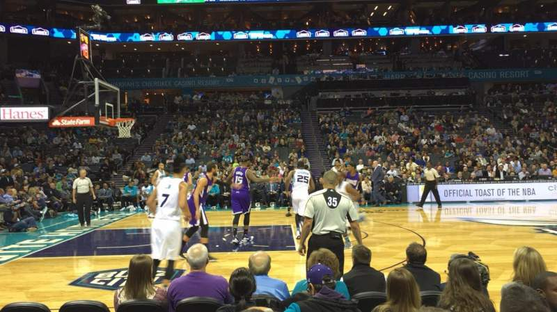 Seating view for Spectrum Center Section 115 Row A Seat 4