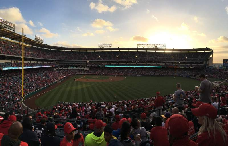 Seating view for Angel Stadium Section P244 Row H Seat 8