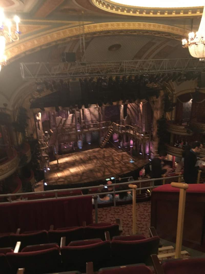 Seating view for Richard Rodgers Theatre Section Rear Mezzanine Row E Seat 19
