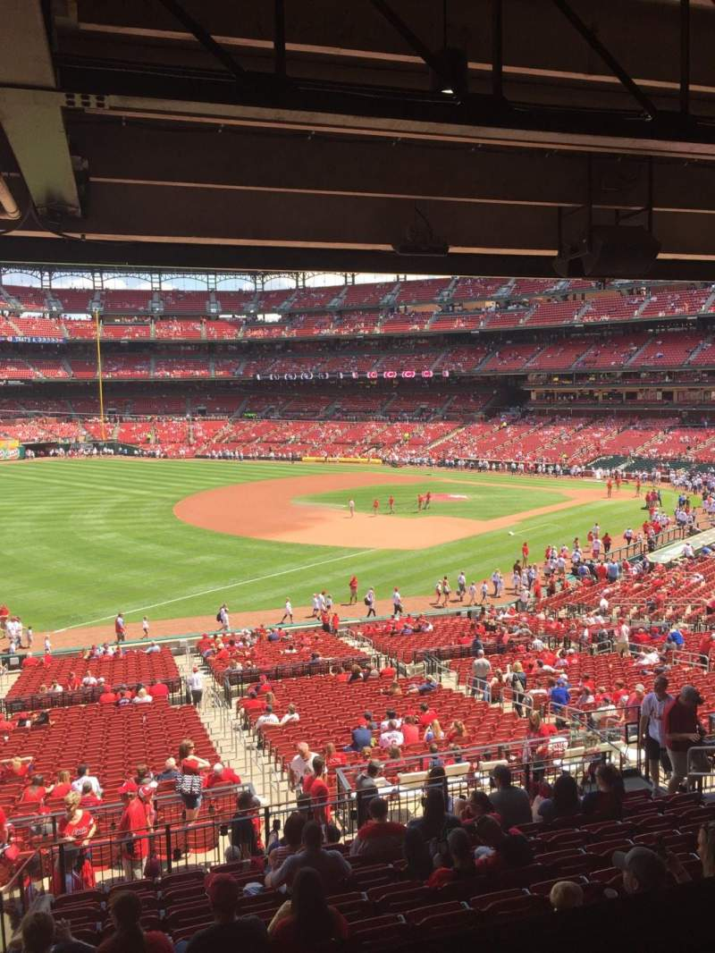 Seating view for Busch Stadium Section Champions Club 8 Row A Seat 6