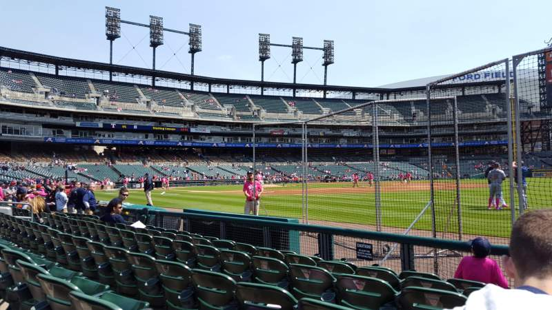 Seating view for Comerica Park Section 117 Row 6 Seat 3
