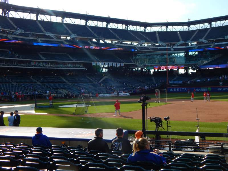 Seating view for Citi Field Section 112 Row 10 Seat 16