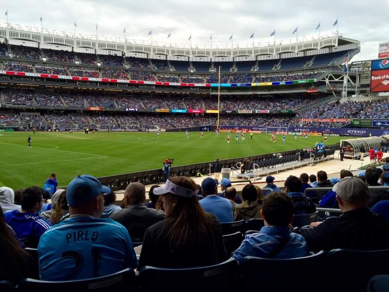 Yankee Stadium, section: 107, row: 8, seat: 6