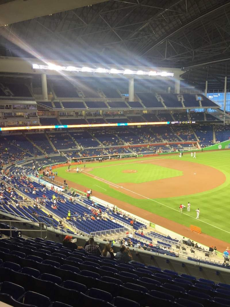Seating view for Marlins Park Section 204a Row 3 Seat 4