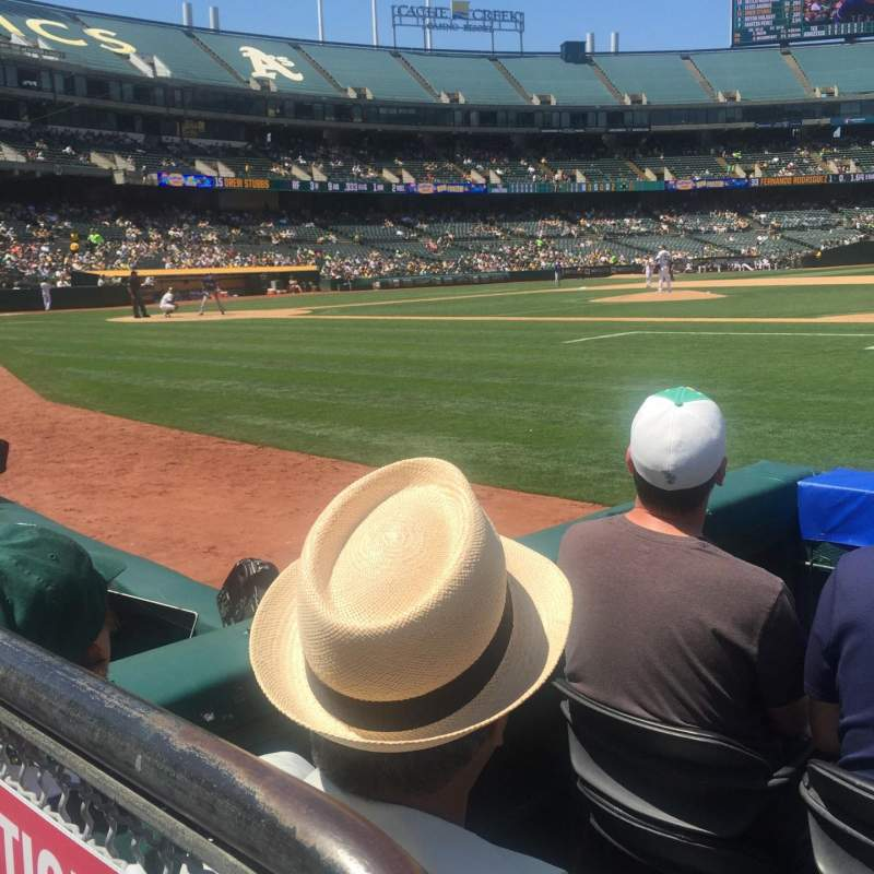 Seating view for Oakland Alameda Coliseum Section 111 Row 1 Seat 13