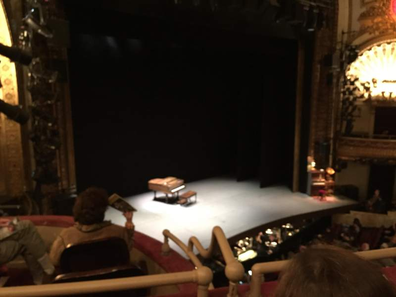 Seating view for Palace Theatre (Broadway) Section Mezzanine Row A Seat 23