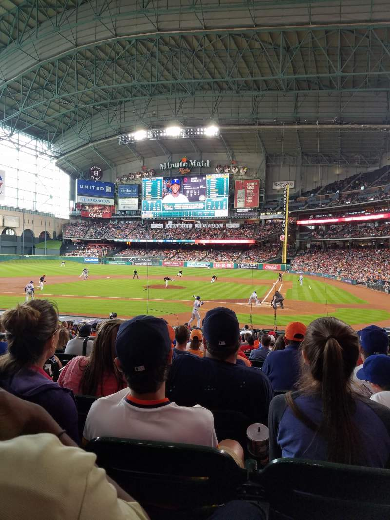 Seating view for Minute Maid Park Section 116 Row 22 Seat 18