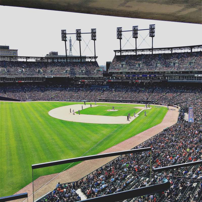 Seating view for Comerica Park Section Suite 251
