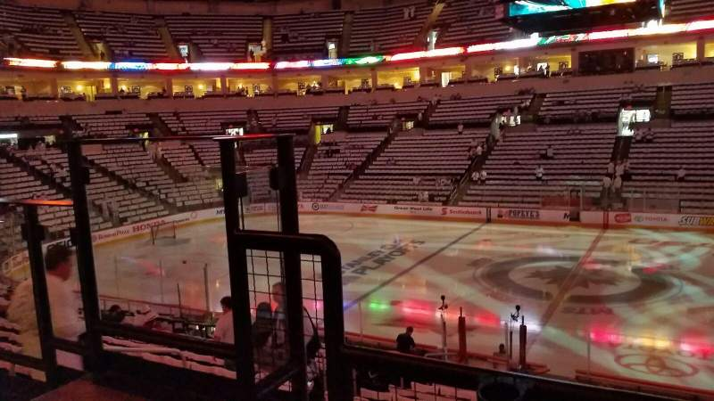 Seating view for Bell MTS Place Section 218 Row 2  Seat 11