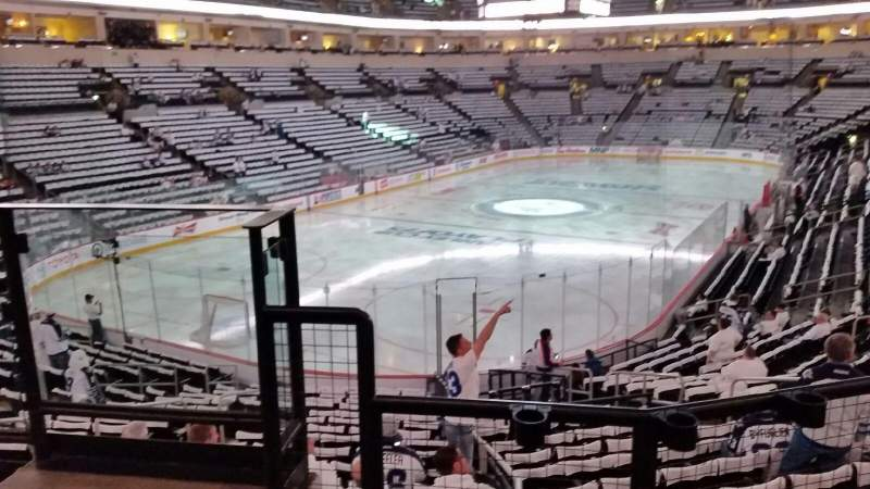 Seating view for Bell MTS Place Section 223 Row 3 Seat 8